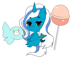 Size: 990x807 | Tagged: safe, artist:gitsudoptions, oc, oc:fleurbelle, alicorn, alicorn oc, candy, female, food, horn, lollipop, mare, simple background, transparent background, wings