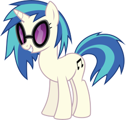 Size: 8927x8495 | Tagged: safe, artist:wissle, dj pon-3, vinyl scratch, pony, unicorn, suited for success, absurd resolution, female, grin, mare, simple background, smiling, solo, sunglasses, transparent background, vector, vinyl's glasses