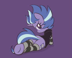 Size: 1197x959 | Tagged: safe, artist:pestil, lilymoon, pony, unicorn, ponyville mysteries, butt, clothes, explicit source, female, filly, plot, simple background, solo