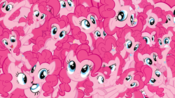 Size: 1920x1080 | Tagged: safe, artist:ponyphile, edit, pinkie pie, earth pony, pony, too many pinkie pies, clone, female, mare, multeity, pink, pinkie clone, so much pink, too much pink energy is dangerous, vector, wallpaper, wallpaper edit