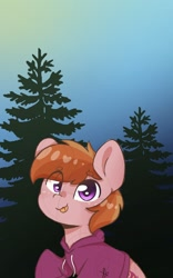 Size: 750x1200 | Tagged: safe, artist:dasalotofpones, oc, oc only, oc:stuben, :p, clothes, hoodie, solo, tongue out