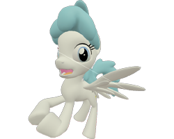 Size: 899x720   Tagged: safe, artist:topsangtheman, lightning bolt, white lightning, pegasus, pony, the cutie re-mark, 3d, flying, looking at you, sarcastic clap, simple background, solo, source filmmaker, starlight says bravo, transparent background