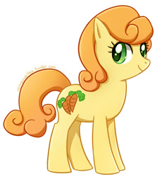 Size: 666x725 | Tagged: safe, artist:tsurime, carrot top, golden harvest, earth pony, pony, female, mare, simple background, solo, white background