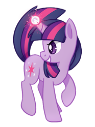 Size: 369x495 | Tagged: safe, artist:tsurime, twilight sparkle, pony, unicorn, female, glowing horn, horn, magic, mare, profile, simple background, smiling, solo, transparent background, unicorn twilight