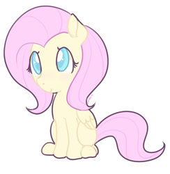 Size: 1280x1310 | Tagged: safe, artist:pegacornss, fluttershy, pegasus, pony, colored pupils, cute, female, mare, shyabetes, simple background, sitting, solo, white background