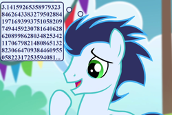 Size: 1080x720 | Tagged: safe, edit, edited screencap, screencap, soarin', rainbow falls, cropped, cute, pi, pun, soarinbetes, that pony sure does love pies, thought bubble