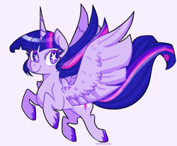 Size: 1280x1060   Tagged: safe, artist:eateroflife, twilight sparkle, alicorn, pony, cute, female, mare, simple background, solo, spread wings, starry eyes, twiabetes, twilight sparkle (alicorn), unshorn fetlocks, white background, wingding eyes, wings