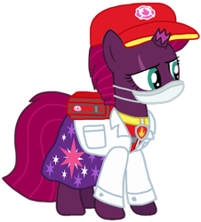 Size: 947x1049   Tagged: safe, artist:徐詩珮, fizzlepop berrytwist, tempest shadow, pony, unicorn, series:sprglitemplight diary, series:sprglitemplight life jacket days, series:springshadowdrops diary, series:springshadowdrops life jacket days, aid marshall (paw patrol), alternate universe, base used, clothes, coronavirus, covid-19, cute, doctor, marshall (paw patrol), paw patrol, simple background, transparent background, vector