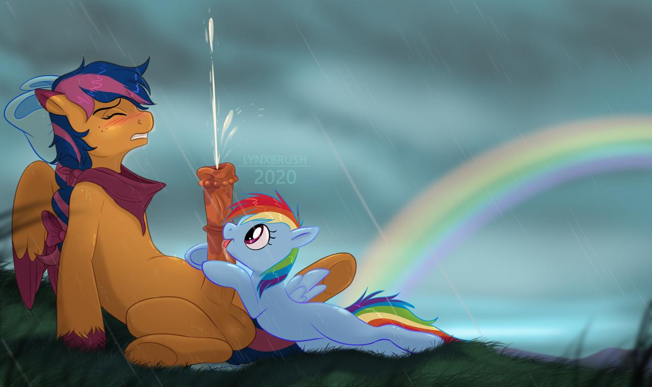 #2355798 - explicit, artist:lynxbrush, rainbow dash, oc
