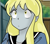 Size: 2235x1952 | Tagged: safe, anonymous artist, derpy hooves, human, anime, female, humanized, pony coloring, solo, underp, urusei yatsura
