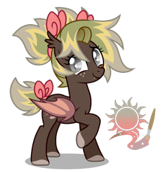Size: 3300x3500 | Tagged: safe, artist:oyks, oc, oc only, unnamed oc, bat pony, pony, bat pony oc, bat wings, bow, colored hooves, ear fluff, fangs, female, freckles, hair bow, looking at you, mare, multicolored hair, raised hoof, simple background, smiling, solo, tail bow, tail wrap, transparent background, wings