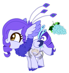 Size: 511x546 | Tagged: safe, artist:lemonkaiju, oc, oc:concord grace, hybrid, female, filly, magical lesbian spawn, offspring, parent:queen novo, parent:rarity, parents:rarinovo, simple background, solo, transparent background