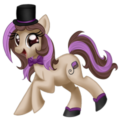 Size: 1950x2000 | Tagged: safe, artist:xbeautifuldreamerx, oc, oc:bowtie, earth pony, pony, bowtie, female, hat, mare, simple background, solo, top hat, transparent background
