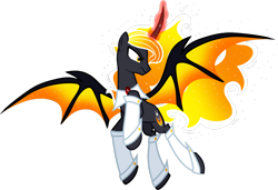 Size: 1280x873 | Tagged: safe, artist:helenosprime, oc, oc:veiur, alicorn, bat pony, bat pony alicorn, bat wings, clothes, horn, magic, male, simple background, solo, stallion, transparent background, wings