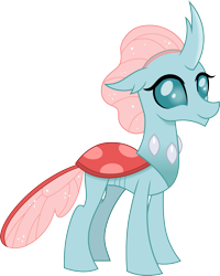 Size: 1201x1500 | Tagged: safe, artist:cloudyglow, ocellus, changedling, changeling, cloudyglowverse, alternate universe, cute, diaocelles, female, older, older ocellus, part of a set, simple background, smiling, solo, transparent background