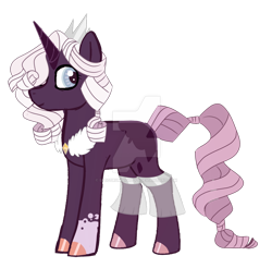 Size: 1024x1008 | Tagged: safe, artist:spectrumnightyt, oc, oc:precvious belle, earth pony, unicorn, deviantart watermark, female, magical lesbian spawn, mare, obtrusive watermark, offspring, parent:princess luna, parent:rarity, parents:rariluna, simple background, solo, transparent background, watermark