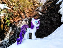 Size: 2080x1560 | Tagged: safe, photographer:pakapaka1993, rarity, irl, photo, plushie, snow, solo
