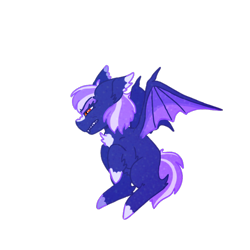 Size: 600x600 | Tagged: safe, artist:aes, oc, oc only, oc:starry skies, bat pony, pony, bat pony oc, bat wings, female, mare, simple background, solo, transparent background, wings