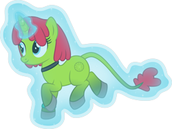 Size: 5322x4000 | Tagged: safe, alternate version, artist:melisareb, oc, oc only, oc:radiante radium, object pony, original species, pony, radioactive pony, unicorn, .svg available, absurd resolution, choker, element pony, female, glow, glowing horn, gradient hooves, gradient tail, horn, i can't believe it's not badumsquish, inkscape, leonine tail, levitation, magic, mare, ponified, radioactive, self-levitation, simple background, solo, telekinesis, transparent background, vector