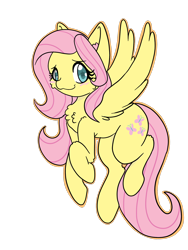 Size: 1536x2048 | Tagged: safe, artist:larrykitty, fluttershy, cute, flying, looking at you, shyabetes, simple background