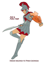 Size: 1600x2152 | Tagged: safe, artist:pyrus-leonidas, flash magnus, human, series:mortal kombat:defenders of equestria, 300, armor, boots, crossover, helmet, humanized, looking at you, male, mortal kombat, part of a set, shield, shoes, simple background, solo, sword, this is sparta, transparent background, weapon