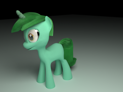 Size: 1280x960 | Tagged: safe, lyra heartstrings, 3d, 3ds max, blank flank, cracked horn, horn, low quality, mane, tail