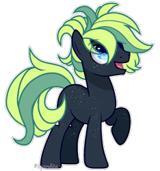 Size: 1137x1216 | Tagged: safe, artist:2pandita, oc, oc only, earth pony, pony, commission, male, raised hoof, simple background, smiling, solo, stallion, transparent background
