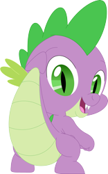 Size: 2227x3573 | Tagged: safe, artist:porygon2z, spike, dragon, ass, butt, cute, dragonbutt, high res, inkscape, looking at you, male, simple background, solo, spikabetes, transparent background, vector