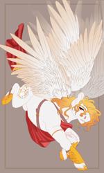 Size: 1500x2500 | Tagged: safe, artist:copshop, oc, pegasus, pony, seraph, male, multiple wings, solo, stallion