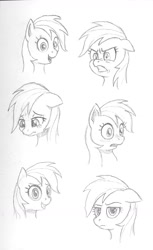 Size: 764x1249 | Tagged: safe, artist:friendshipishorses, rainbow dash, pony, angry, expressions, floppy ears, monochrome, sketch, solo, teary eyes, traditional art