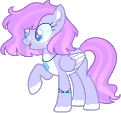 Size: 1524x1420 | Tagged: safe, artist:kurosawakuro, artist:pegasski, oc, oc only, pegasus, pony, base used, colored pupils, female, jewelry, magical lesbian spawn, mare, necklace, offspring, parent:silver spoon, parent:wind sprint, raised hoof, simple background, solo, transparent background, two toned wings, wings