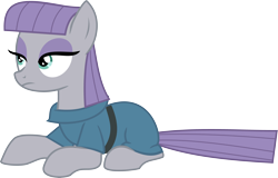 Size: 5000x3209 | Tagged: safe, artist:nero-narmeril, maud pie, pony, absurd resolution, prone, simple background, solo, transparent background