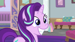 Size: 1920x1080 | Tagged: safe, screencap, starlight glimmer, a horse shoe-in, cute, glimmerbetes, smiling, solo, teeth
