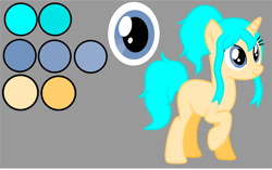Size: 1412x887 | Tagged: safe, artist:isrrael120, oc, oc only, oc:agua, unicorn, female, horn, reference sheet, simple background, solo, unicorn oc