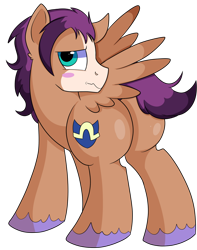 Size: 1280x1622 | Tagged: safe, artist:rainbowtashie, flash sentry, trouble shoes, oc, oc:fast hooves, clydesdale, earth pony, pegasus, pony, butt, commissioner:bigonionbean, cutie mark, extra thicc, flank, fusion, fusion:fast hooves, plot, simple background, thicc ass, transparent background, writer:bigonionbean