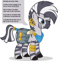Size: 2000x2128 | Tagged: safe, artist:le-23, oc, zebra, bag, bandana, bracelet, ear piercing, earring, female, jewelry, piercing, quadrupedal, saddle bag, simple background, smiling, solo, tail ring, tail wrap, transparent background, zebra oc