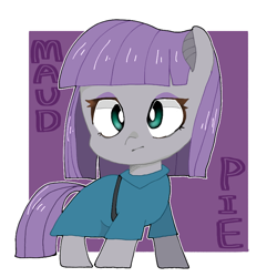 Size: 768x768 | Tagged: safe, artist:destroyer_aky, maud pie, earth pony, pony, abstract background, chibi, cute, female, mare, maudabetes, pixiv, solo
