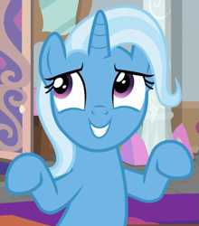 Size: 549x625 | Tagged: safe, screencap, trixie, a horse shoe-in, cropped, solo