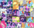 Size: 1036x857 | Tagged: safe, screencap, applejack, derpy hooves, fluttershy, octavia melody, pinkie pie, rainbow dash, rarity, starlight glimmer, twilight sparkle, alicorn, earth pony, pegasus, pony, unicorn, a bird in the hoof, a horse shoe-in, canterlot boutique, daring don't, fame and misfortune, father knows beast, horse play, hurricane fluttershy, princess twilight sparkle (episode), rainbow falls, read it and weep, slice of life (episode), the crystal empire, the last roundup, the one where pinkie pie knows, to where and back again, annoyed, applejack's hat, bandage, big crown thingy, book, bowing, cello, cowboy hat, cropped, crying, cute, element of magic, eyes closed, female, floppy ears, flying, food, frazzled, friendship journal, glass, hat, jewelry, looking down, looking up, magic, mane six, mare, mouth hold, mud, musical instrument, prone, rarity's glasses, regalia, sad, sitting, twilight sparkle (alicorn)
