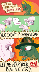 Size: 1080x1970 | Tagged: safe, artist:idclop, pom lamb, tianhuo, dragon, hybrid, longma, sheep, them's fightin' herds, battle cry, comic, community related, drill sergeant, female, full metal jacket, movie reference