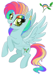 Size: 1280x1746 | Tagged: safe, artist:thatonecrazyartist18, oc, oc only, pegasus, pony, base used, deviantart watermark, ear piercing, earring, eyeshadow, female, jewelry, magical lesbian spawn, makeup, multicolored hair, next generation, obtrusive watermark, offspring, parent:fluttershy, parent:rainbow dash, parents:flutterdash, piercing, rainbow hair, rainbow makeup, simple background, solo, transparent background, watermark