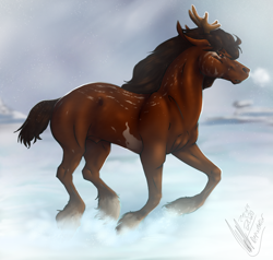 Size: 966x920 | Tagged: safe, artist:depixelator, equine, realistic, snow