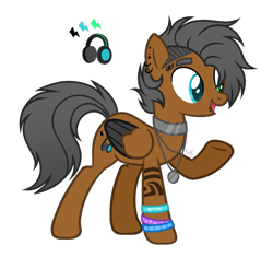 Size: 761x716 | Tagged: safe, artist:mintoria, oc, oc:kyran, pegasus, pony, male, simple background, solo, stallion, transparent background, two toned wings, wings