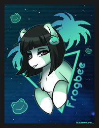 Size: 2339x3000 | Tagged: safe, artist:ciderpunk, oc, ear piercing, earring, jewelry, piercing, synthwave