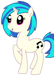 Size: 866x1217 | Tagged: safe, artist:moonpaths, dj pon-3, vinyl scratch, unicorn, solo