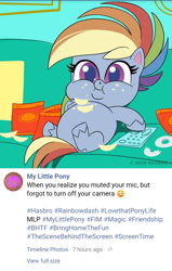 Size: 720x1135 | Tagged: safe, screencap, rainbow dash, pony, my little pony: pony life, belly, big belly, chips, chubby cheeks, couch, couch potato, crumbs, double chin, facebook, fat, female, food, mare, missing cutie mark, official, on back, part of a set, rainblob dash, remote, sitting, solo