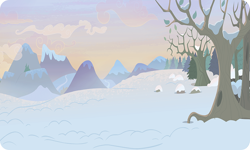 Size: 954x572 | Tagged: safe, background, dead tree, gameloft, mountain, no pony, outdoors, resource, snow, tree