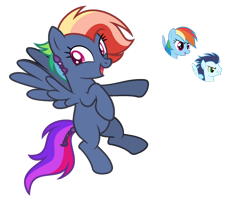 Size: 1024x828 | Tagged: safe, artist:sapphiretwinkle, rainbow dash, soarin', oc, pegasus, pony, female, mare, offspring, parent:rainbow dash, parent:soarin', parents:soarindash, simple background, transparent background