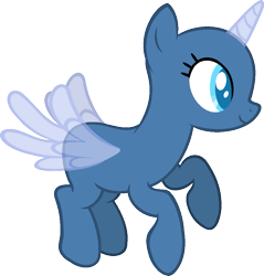 Size: 937x979 | Tagged: safe, artist:pegasski, oc, oc only, alicorn, pony, the cutie map, alicorn oc, bald, base, eyelashes, flying, horn, simple background, smiling, solo, transparent background, wings