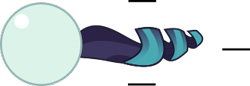 Size: 336x115 | Tagged: safe, artist:mega-poneo, coloratura, earth pony, pony, ball, crossover, female, mare, motion lines, rolling, solo, sonic the hedgehog (series), spin dash